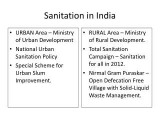 Sanitation in India