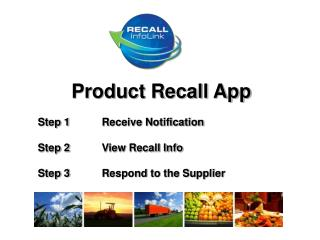 Product Recall App 	Step 1	Receive Notification   	Step 2	View Recall Info
