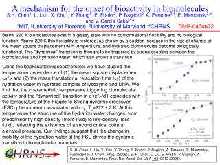 A mechanism for the onset of bioactivity in biomolecules