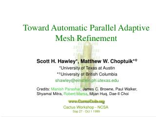 Toward Automatic Parallel Adaptive Mesh Refinement