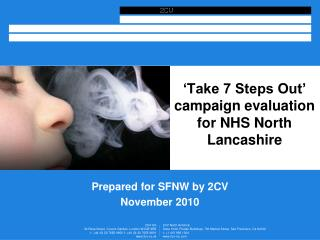 'Take 7 Steps Out' campaign evaluation for NHS North Lancashire