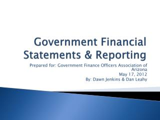 Government Financial Statements & Reporting