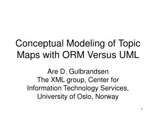 Conceptual Modeling of Topic Maps with ORM Versus UML