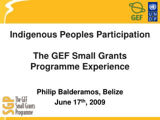 Indigenous Peoples Participation  The GEF Small Grants Programme Experience