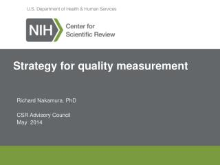 Strategy for quality measurement