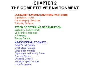 CHAPTER 2 THE COMPETITIVE ENVIRONMENT
