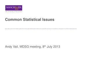 Common Statistical Issues