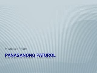 Panaganong Paturol