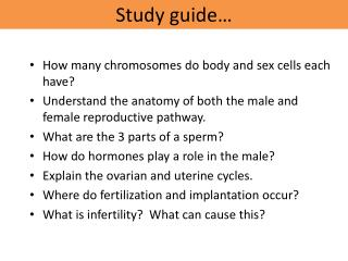 Study guide…