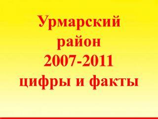 Урмарский район 2007-2011 цифры и факты