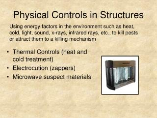 Physical Controls in Structures