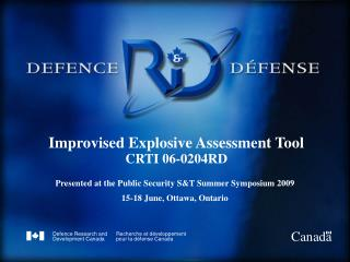 Improvised Explosive Assessment Tool CRTI 06-0204RD