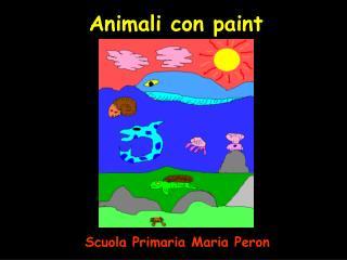 Animali con paint