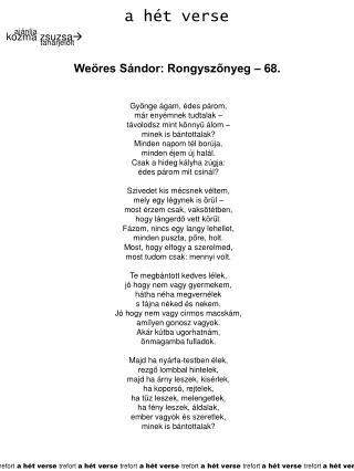 a hét verse