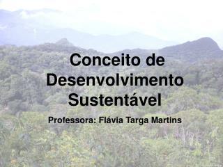 Conceito de Desenvolvimento Sustentável Professora: Flávia Targa Martins