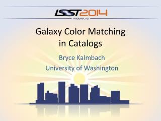 Galaxy Color Matching in Catalogs