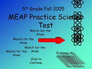 MEAP Practice Science Test