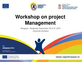 Workshop on project Management