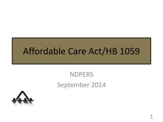 Affordable Care Act/ HB  1059