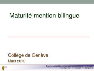 Maturité mention bilingue