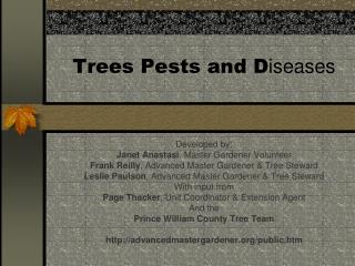 Trees Pests and D iseases