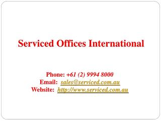 Serviced offices in Sydney, Australia - Serviced Offices Int