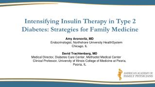 Intensifying Insulin Therapy in Type 2 Diabetes: Strategies for Family Medicine