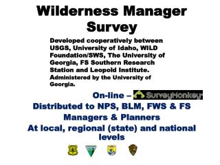 Wilderness Manager Survey