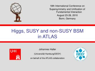 Higgs, SUSY and non-SUSY BSM  in ATLAS