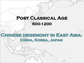 Chinese hegemony in East Asia :  China, Korea, Japan