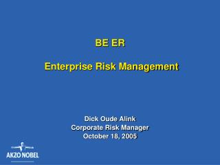 BE ER   Enterprise Risk Management