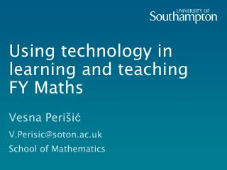 Using technology in learning and teaching FY Maths