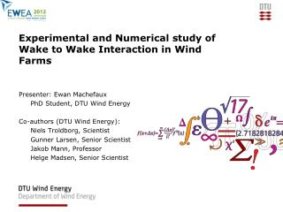 Experimental and Numerical study of Wake to Wake Interaction in Wind Farms