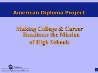American Diploma Project