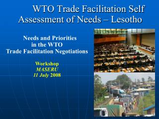 WTO Trade Facilitation Self Assessment of Needs – Lesotho