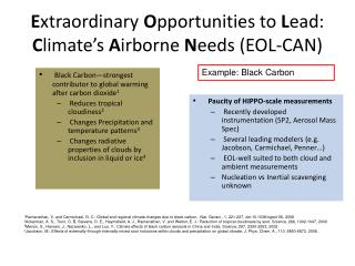 E xtraordinary  O pportunities to  L ead:   C limate's  A irborne  N eeds (EOL-CAN)