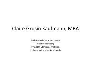 Claire Grusin Kaufmann, MBA