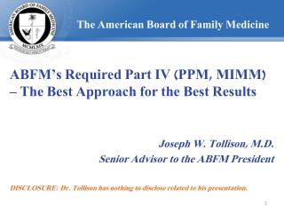 The American Board of Family Medicine