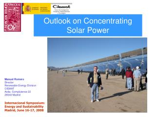 Outlook on Concentrating Solar Power