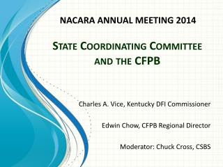 State Coordinating Committee and the  CFPB