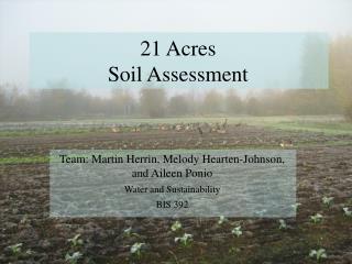 21 Acres  Soil Assessment