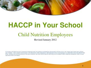 HACCP in Your School