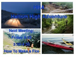 HHA Haltom High Adventure