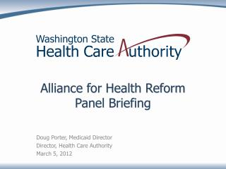 Alliance for Health Reform Panel Briefing
