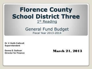 Florence County  School District Three