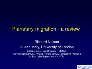 Planetary migration - a review