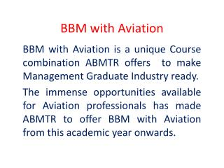 BBM with Aviation