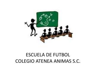 ESCUELA DE FUTBOL COLEGIO ATENEA ANIMAS S.C.