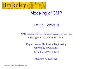 Modeling of CMP