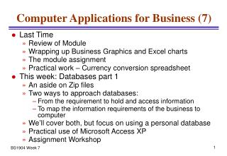 Computer Applications for Business (7)